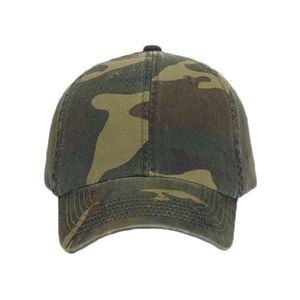 OTTO Camouflage Garment Washed Cotton Twill Six Panel Low Profile Baseball Cap Thumbnail