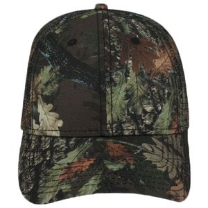OTTO Camouflage Superior Polyester Twill Six Panel Low Profile Mesh Back Trucker Hat Thumbnail