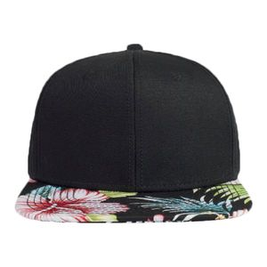 OTTO Superior Cotton Twill w/ Hawaiian pattern Square Flat Visor Snapback