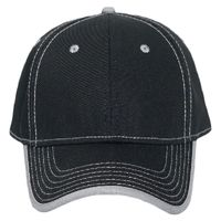 OTTO Superior Cotton Twill w/ Contrast Stitching Binding Trim Visor Six Panel Low Profile Baseball C Thumbnail