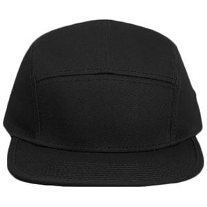 OTTO Superior Cotton Twill Square Flat Visor w/ Binding Trim Five Panel Camper Hat Thumbnail