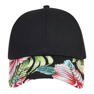 OTTO Hawaiian Pattern Visor Superior Cotton Twill Six Panel Low Profile Baseball Cap Thumbnail