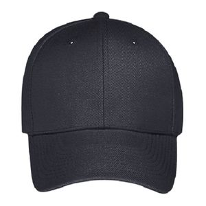 OTTO Wool Blend Twill Gray Undervisor Six Panel Low Profile Baseball Cap Thumbnail