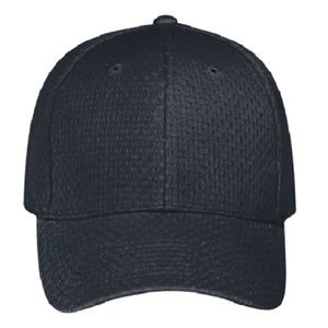 OTTO Polyester Pro Mesh Gray Undervisor Six Panel Low Profile Baseball Cap Thumbnail