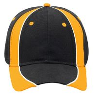 OTTO Piping Design Brushed Cotton Twill Six Panel Low Profile Baseball Cap Thumbnail