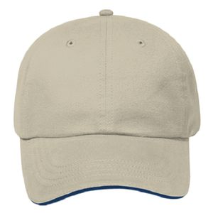 OTTO Brushed Cotton Twill Sandwich Visor Six Panel Low Profile Baseball Cap Thumbnail