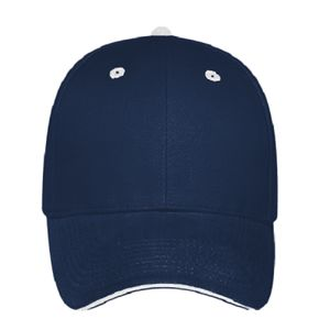 OTTO Brushed Cotton Blend Twill Sandwich Visor Six Panel Low Profile Baseball Cap Thumbnail