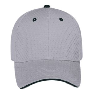 OTTO Polyester Pro Mesh Sandwich Visor Six Panel Low Profile Baseball Cap Thumbnail