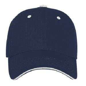 OTTO Organic Superior Cotton Twill Sandwich Visor Six Panel Low Profile Baseball Cap Thumbnail