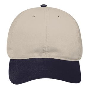 OTTO Brushed Cotton Blend Twill Soft Visor Six Panel Low Profile Baseball Cap Thumbnail