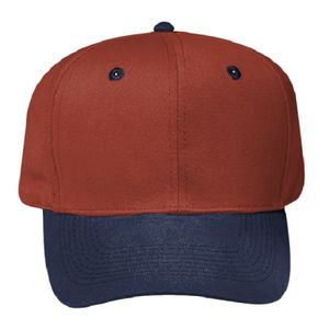 OTTO Brushed Bull Denim Six Panel Pro Style Baseball Cap Thumbnail