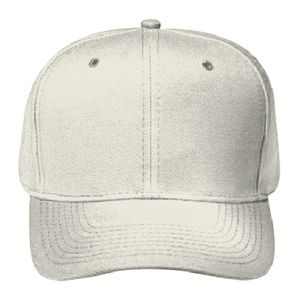 OTTO Wool Blend Twill Gray Undervisor Six Panel Pro Style Baseball Cap Thumbnail