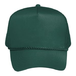 OTTO Cotton Blend Twill Five Panel Pro Mesh Back Trucker Hat Thumbnail