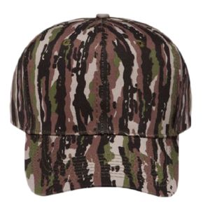 OTTO Camouflage Cotton Blend Twill Six Panel Pro Style Baseball Cap Thumbnail