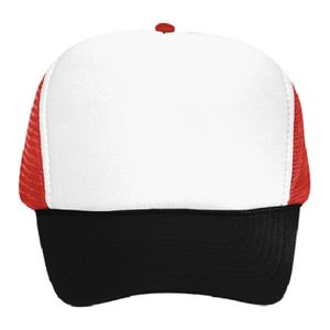 OTTO Polyester Foam Front Five Panel High Crown Mesh Back Trucker Hat Thumbnail