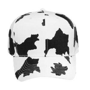 OTTO Cow Pattern Cotton Blend Twill Six Panel Pro Style Baseball Cap Thumbnail