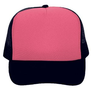 OTTO Neon Polyester Foam Front Five Panel High Crown Mesh Back Trucker Hat Thumbnail