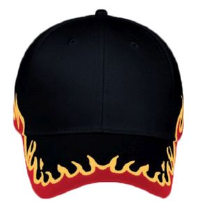 OTTO Flame Pattern Cotton Twill Six Panel Low Profile Baseball Cap Thumbnail