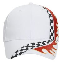 OTTO Racing Flame Pattern Cotton Twill Low Profile Style Cap Thumbnail