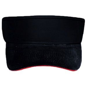 OTTO Brushed Bull Denim Sandwich Visor Sun Visor Thumbnail