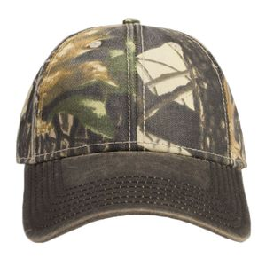 OTTO Camouflage Garment Washed Cotton Blend Twill w/ Heavy Washed PU Coated Visor Six Panel Low Prof Thumbnail