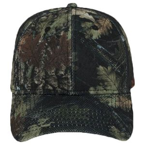 OTTO Camouflage Polyester Pique Mesh Six Panel Low Profile Baseball Cap Thumbnail