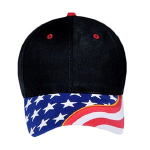 OTTO United States Flag Pattern w/ Yellow Ribbon Visor Ultra Fine Brushed Superior Cotton Twill Six Thumbnail