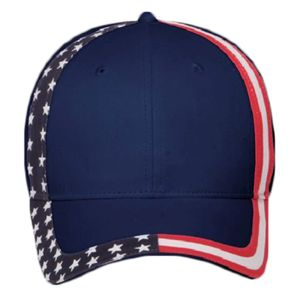 OTTO United States Flag Pattern Cotton Twill Six Panel Low Profile Baseball Cap Thumbnail