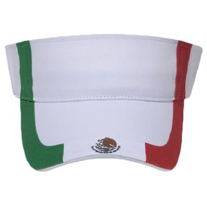 OTTO Mexico Flag Design Cotton Twill Sun Visor Thumbnail