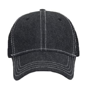 OTTO Denim Six Panel Low Profile Mesh Back Trucker Hat Thumbnail