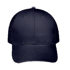 OTTO Cotton Blend Twill Six Panel Low Profile Mesh Back Trucker Hat Thumbnail