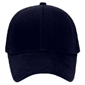 OTTO Comfy Cotton Jersey Knit Six Panel Low Profile Mesh Back Trucker Hat Thumbnail