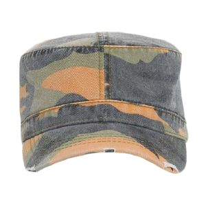 OTTO Camouflage Garment Washed Superior Cotton Twill Distressed Visor Military Cap Thumbnail