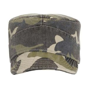 OTTO Camouflage Garment Washed Superior Cotton Twill Flexible Soft Visor Military Cap Thumbnail