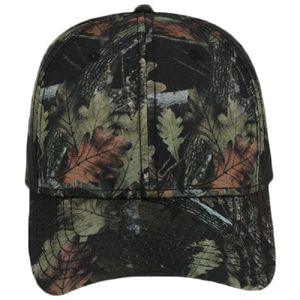 OTTO Camouflage Superior Polyester Twill Six Panel Low Profile Baseball Cap Thumbnail
