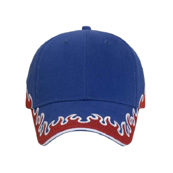 65078adf OTTO Cap OTTO Flame Pattern Brushed Cotton Twill w/ Polyester Pro Mesh  Sandwich Visor Six Panel Low Profile B 87-761