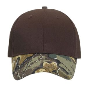 OTTO Cap OTTO Camouflage Visor Cotton Blend Twill Six Panel Low Profile  Baseball Cap 78-754 0b75b98fcd30